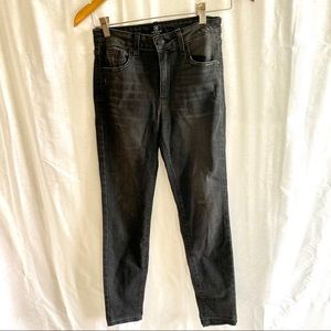 Just Black Faded Distressed Black Jeans Size 26